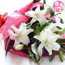 誕生日 結婚祝い お礼 歓送迎 カサブランカ15輪とグリーンの花束 お彼岸 お供え 花 フラワー 【あす楽対応】 母 誕生日プレゼント
