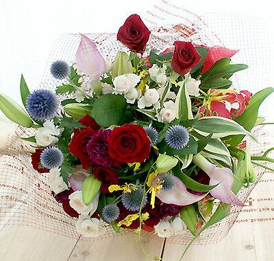 花 誕生日 結婚祝い お礼 歓送迎 特別 プレゼント 送別 退職 記念日 退職祝い おまかせ ゴージャス花束 ラウンド 送料無料 母 誕生日プレゼント 愛妻の日 バレンタイン ホワイトデー