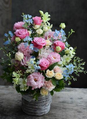 誕生日プレゼント開店祝い花結婚祝い季節のアレンジフラワー送別お祝い退職発表会開店祝い結婚記念日送料無料「シ・ベル」