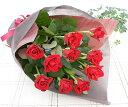 シンプルローズ!赤バラ10本の花束 【送料無料】 誕生日プレゼント 女性 送別 退職