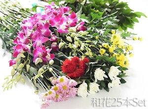 供花和花25本セットお供えお墓参りのお供え花フラワー