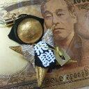 【メール便 送料無料】【飛騨高山さるぼぼ】出世運・開運・金運・ギャンブルのお守り【縁起のいい金色 キラキラさる…