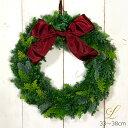 生花リース X'masリース フレッシュグリーン[Lサイズ33〜38cm] 【本州・四国送料無料】【指定日OK】フレッシュナチュ…