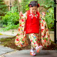 保険【三歳】おはりばこの七五三レンタル衣裳♪正絹アンティーク着物で七五三!!【紫縮緬地花薬玉文一つ身】