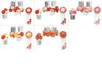 【つまみ細工】古布の菊簪(かんざし)三点セット【勝山】【七五三】