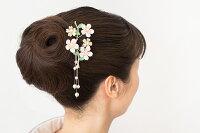 桜の金工簪小卒園式入園式訪問着髪飾り卒業式入学式大人