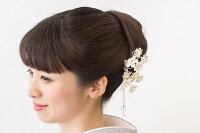 パールビーズとラインストーンを贅沢に使った桜の簪かんざし大卒園式入園式訪問着髪飾り卒業式入学式大人
