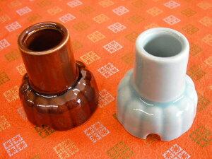 【お墓参り用品】 陶製 お墓用線香立て 茶
