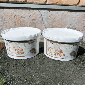 スイス天然漆喰 カルククリーム 10kg×2缶(30〜40平米分)【送料無料】 天然漆喰/スイスウォール/ローラー塗り/DIY向け/自然/調湿