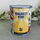 マグネットペイント 1L(約1.2平米/3回塗り) F☆☆☆☆取得 屋内用/マグネット塗料/ダークグレー/ローラー塗り/ニシ…
