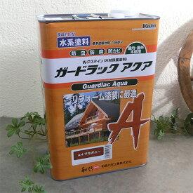 ガードラック アクア 3.5kg(約35平米/1回塗り) 屋内外用/水性/半造膜/塗りつぶし/高耐久/防虫防腐/和信化学
