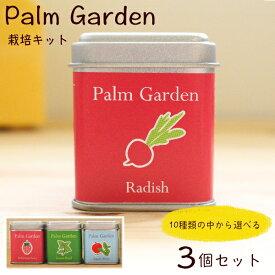 栽培キット3個セット【栽培セット】Palm Garden(パームガーデン)父の日 ミニトマト イチゴ かわいい おしゃれ プレゼント 夏休み 自由研究