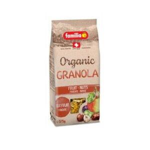 ファミリア オーガニック フルーツ&ナッツ クランチ 375g×12袋 【代引き・同梱不可】