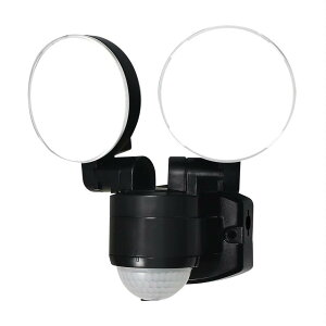 ELPA(エルパ) 屋外用LEDセンサーライト AC100V電源(コンセント式) ESL-SS412AC 照明 防雨 明るい 防犯 軒下 人感 玄関 電気 不審者 小型 自動点灯 白色 【代引き・同梱不可】