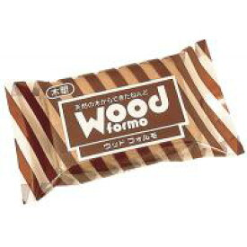 【代引き・同梱不可】木質粘土 ウッドフォルモ 茶 ×5セット 303717