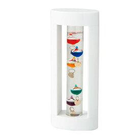 茶谷産業 Fun Science ファンサイエンス ガラスフロート温度計S(ホワイト) 333-205 【代引き・同梱不可】