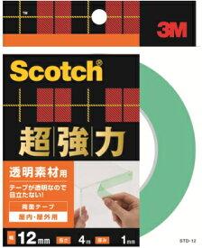 3M(スリーエム) 超強力両面テープ透明素材用 (STD−12) 12×4m