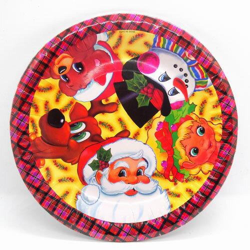 クリスマスパーティー紙食器プレートA6個セット サンタファミリー【クリスマス雑貨/クリスマスパーティー】
