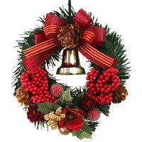 クリスマスリース15cmレッド【玄関/高級/おしゃれ】