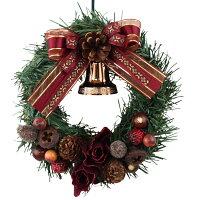 クリスマスリース15cmブラウン【枝リース】