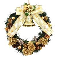 クリスマスリース25cmゴールド【枝リース】