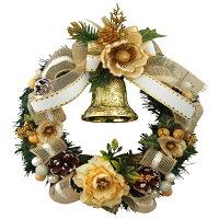 クリスマスリース25cmホワイト【枝リース】