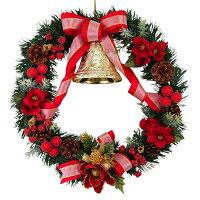 クリスマスリース40cmスウィーツレッド【玄関/高級/おしゃれ/国内生産】
