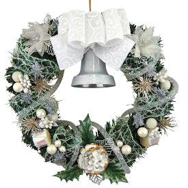 クリスマスリース25cmパールホワイト【玄関/高級/おしゃれ/国内生産】
