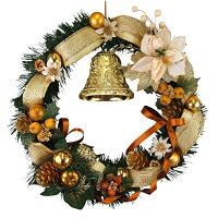 クリスマスリース40cmゴールド【玄関/高級/おしゃれ/国内生産】