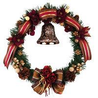 クリスマスリース40cmチョコブラウン【玄関/高級/おしゃれ/国内生産】