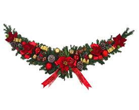 片面クリスマスガーランド180cmレッド あす楽 おしゃれ ゴージャス