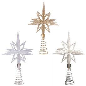トップスターシルバー/ゴールド/ホワイト【クリスマスツリー/3Dトップスター】