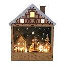 LEDウッドファンタジークリスマスオルゴールハウス【クリスマスオルゴール/クリスマス置物/きよしこの夜】