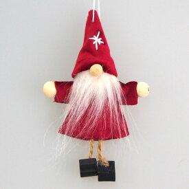 ミニミニチャームクリスマスオーナメント ベルベットサンタワインレッド【クリスマスオーナメント/クリスマスツリー】