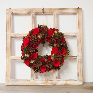 クリスマスリースウィンドウ(M) リース装飾 アンティーク