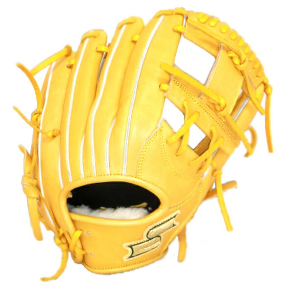SSK プロブレイン内野手用 野球 硬式グラブ PHX66-46 (ターメリックタン)
