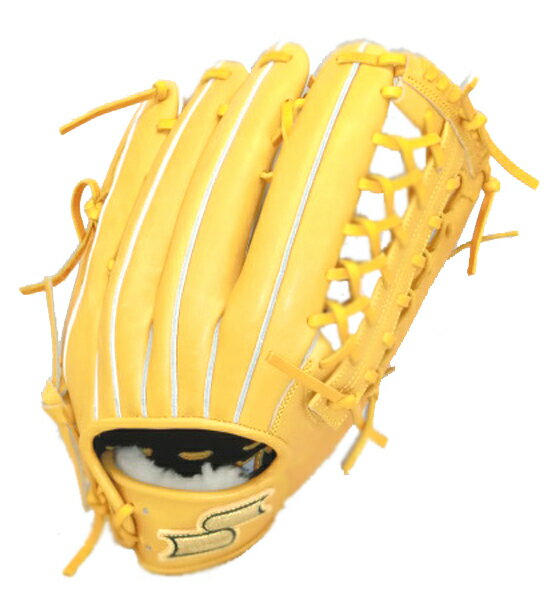 SSK プロブレイン外野手用 野球 硬式グラブ PHX67-46 (ターメリックタン)