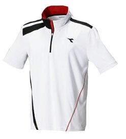 ディアドラ ゲームシャツ 17SS テニス ゲームウェア DTG7333-9099 (ホワイト×ブラック)