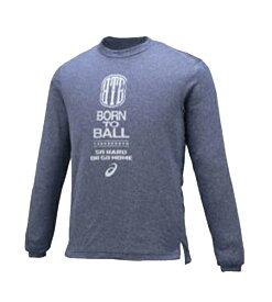 アシックス プリントTシャツ バスケットボール シャツ XB6582-49 (インディゴブルー杢)