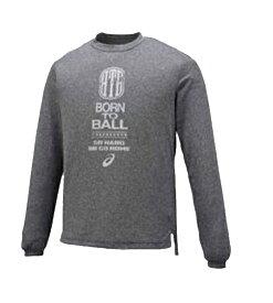 アシックス プリントTシャツ バスケットボール シャツ XB6582-90 (ブラック杢)
