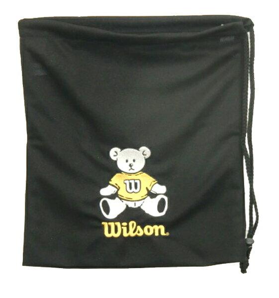 ウィルソン ナップサック(ベア グローブ バッグ) バッグ WTA8022-YE (ブラック×イエロー)