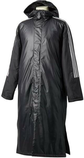 アディダス(adidas) (メンズ)3ストライプロングパデッドコート 18Q1 メンズ コート DUW96-BQ4256 ブラック