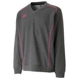 ミズノ ブレスサーモスウェットシャツ(ユニセックス) 17FW テニス ウエア 62JC7505-08 (グレー)