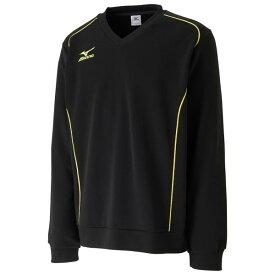 ミズノ ブレスサーモスウェットシャツ(ユニセックス) 17FW テニス ウエア 62JC7505-09 (ブラック)