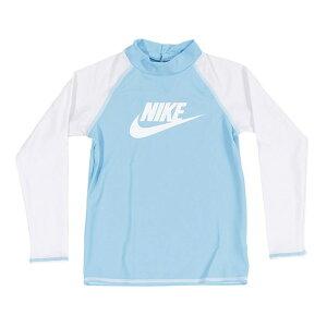 ナイキ Nikeトドラー ロングスリーブ UV ラッシュガード ジュニア ラッシュガード 1981722-06(サックス)