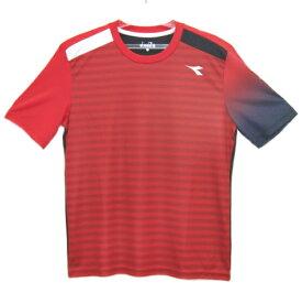 ディアドラ Diadora メンズ グラフィックトップ(Tシャツ) メンズシャツ DTP8532-35 (レッド)