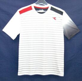 ディアドラ Diadora メンズ グラフィックトップ(Tシャツ) メンズシャツ DTP8532-90 (ホワイト)