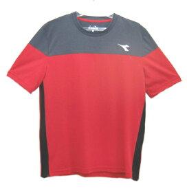 ディアドラ Diadora メンズ ドライミックストップ(Tシャツ) メンズシャツ DTP8533-35 (レッド)