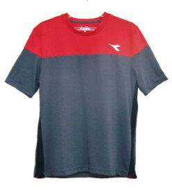 ディアドラ Diadora メンズ ドライミックストップ(Tシャツ) メンズシャツ DTP8533-98 (チャコール)