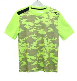 ディアドラ Diadora メンズ グラフィックトップ(Tシャツ) メンズシャツ DTP8534-15 (イエローFL)